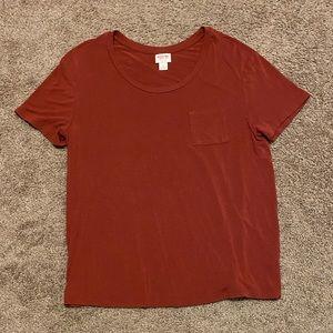 Merona pocket flowy tshirt